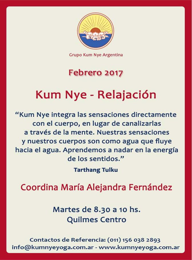 Kum Nye - Relajación en Quilmes Centro • Febrero 2017