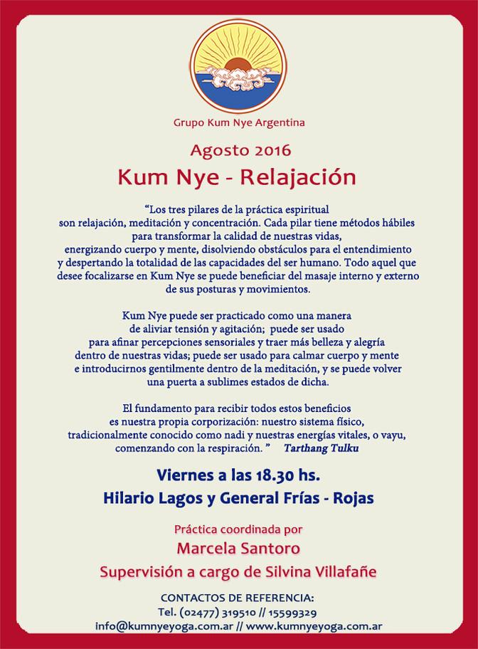 Clases de Kum Nye en Rojas  • Agosto 2016