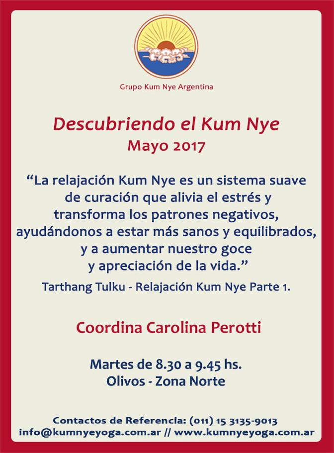 Descubriendo el Kum Nye en Olivos - Zona Norte • Mayo 2017