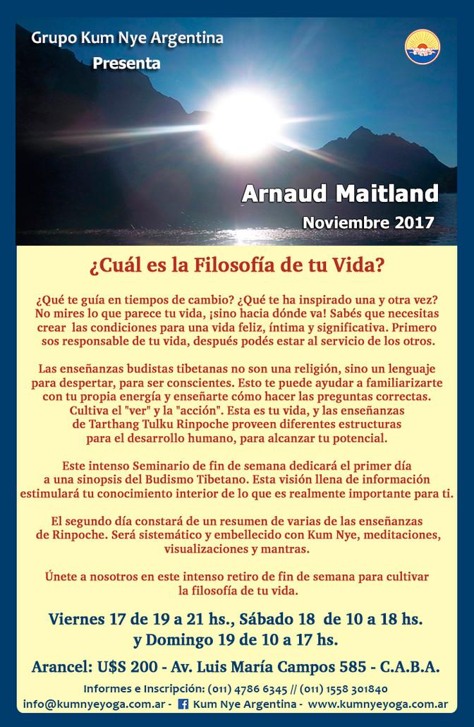 Arnaud Maitland en Argentina • Noviembre 2017