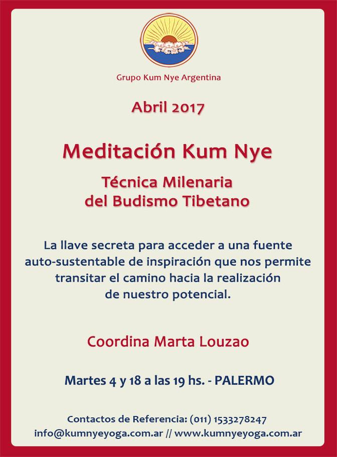 Meditación Kum Nye • Abril 2017