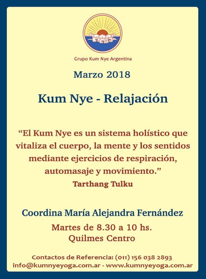 Kum Nye - Relajación en Quilmes Centro • Marzo 2018