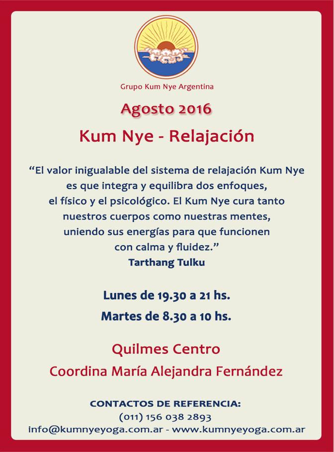 Clases de Kum Nye en Quilmes  • Agosto 2016
