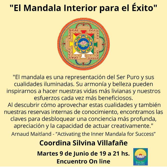 """Skillful Means """"El Mandala Interior para el Éxito"""" Encuentro On line - Martes 9 de Junio"""