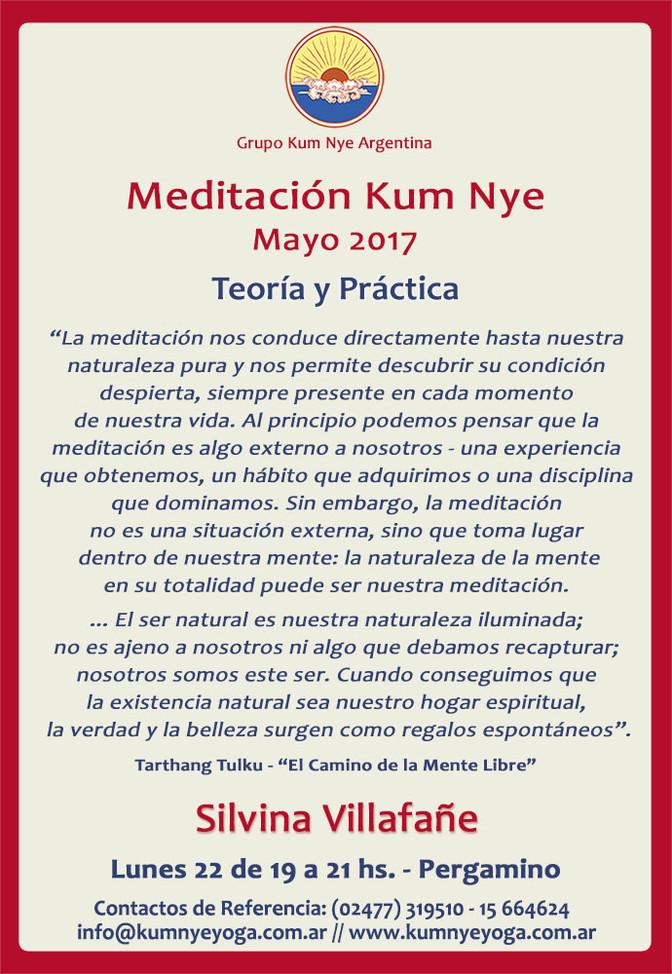 Meditación Kum Nye - Teoría y Práctica en Pergamino • Mayo 2017