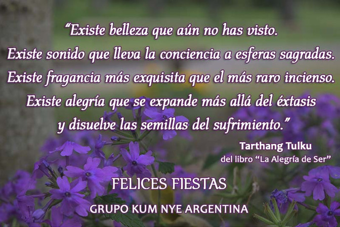 Felices Fiestas les desea Grupo Kum Nye Argentina