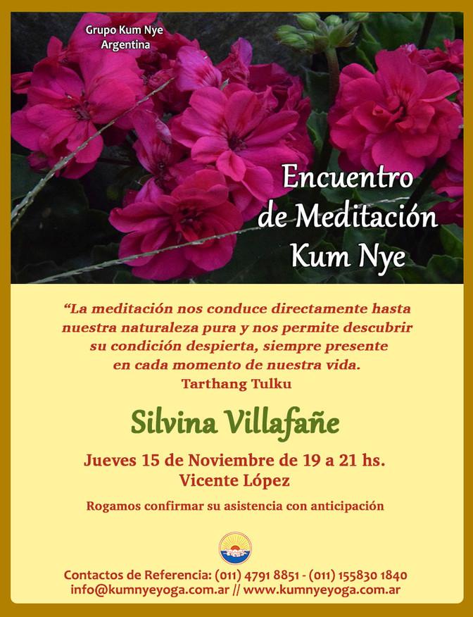 Encuentro de Meditación Kum Nye en Vicente López - Noviembre de 2018