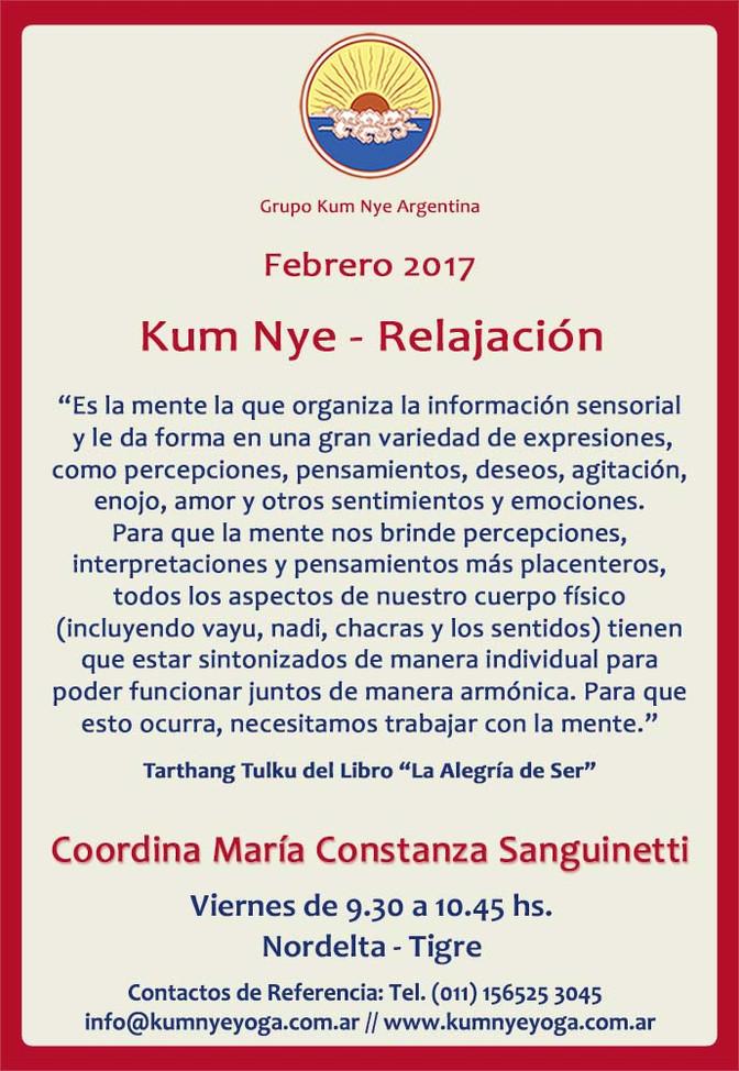 Kum Nye - Relajación en Nordelta - Tigre • Febrero 2017