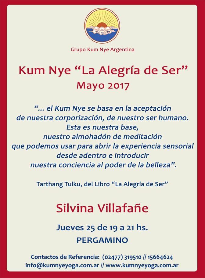 """Kum Nye """"La Alegría de Ser"""" en Pergamino • Mayo 2017"""