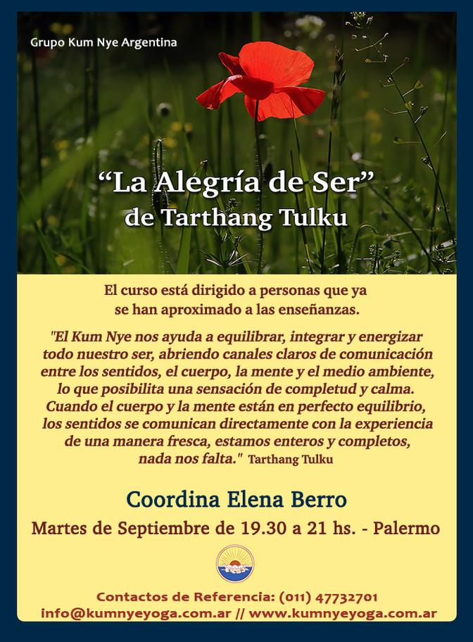 """""""La Alegría de Ser"""" de Tarthang Tulku en Palermo • Septiembre 2018"""