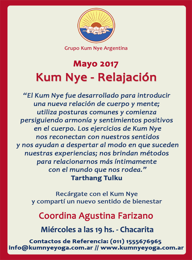 Kum Nye - Relajación en Chacarita • Mayo 2017