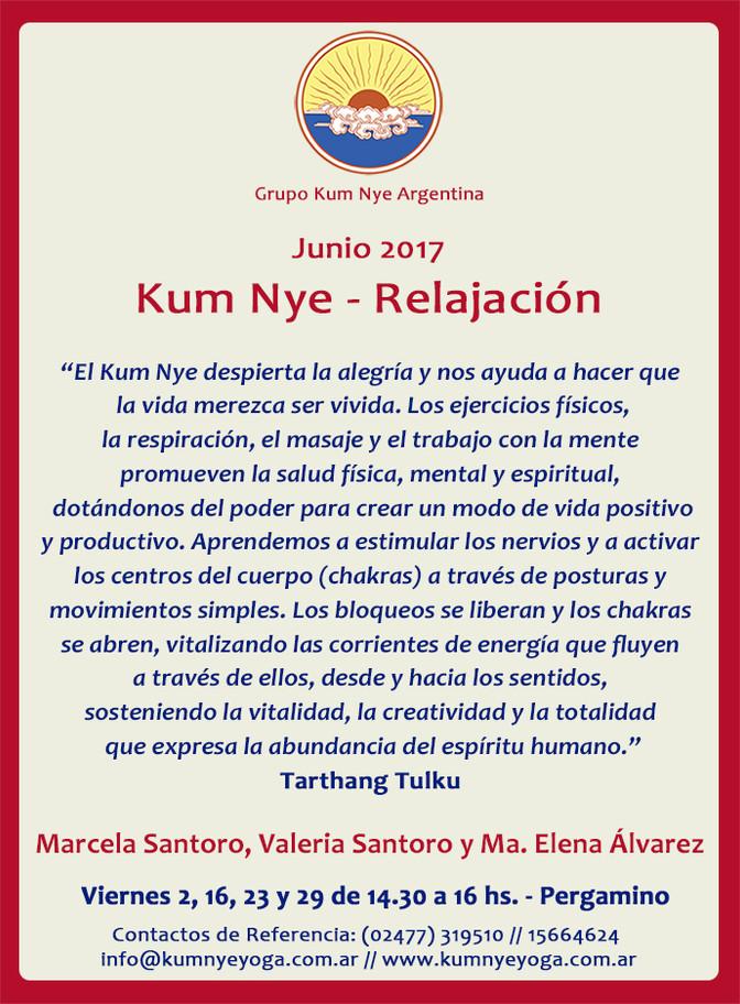 Clases de Kum Nye - Relajación en Pergamino • Junio 2017