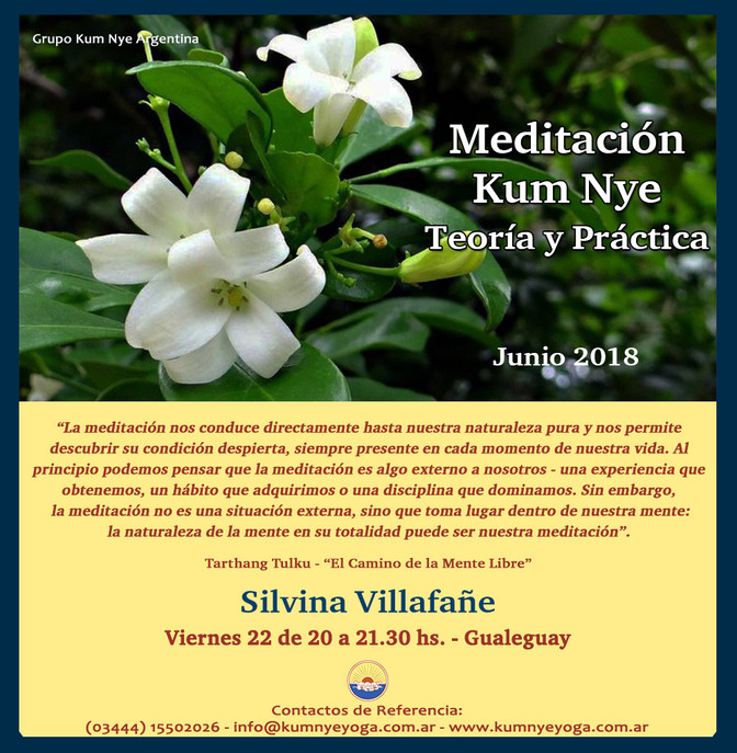 Meditación Kum Nye en Gualeguay - Entre Ríos • Junio 2018