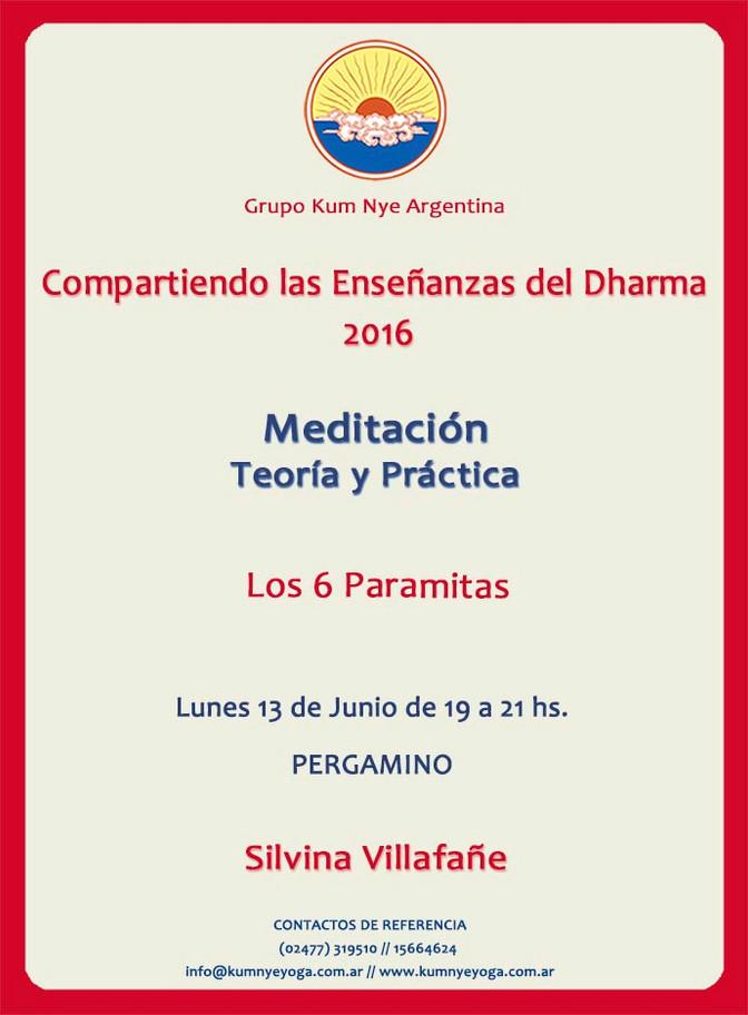 Meditación. Teoría y Práctica en Pergamino • Junio