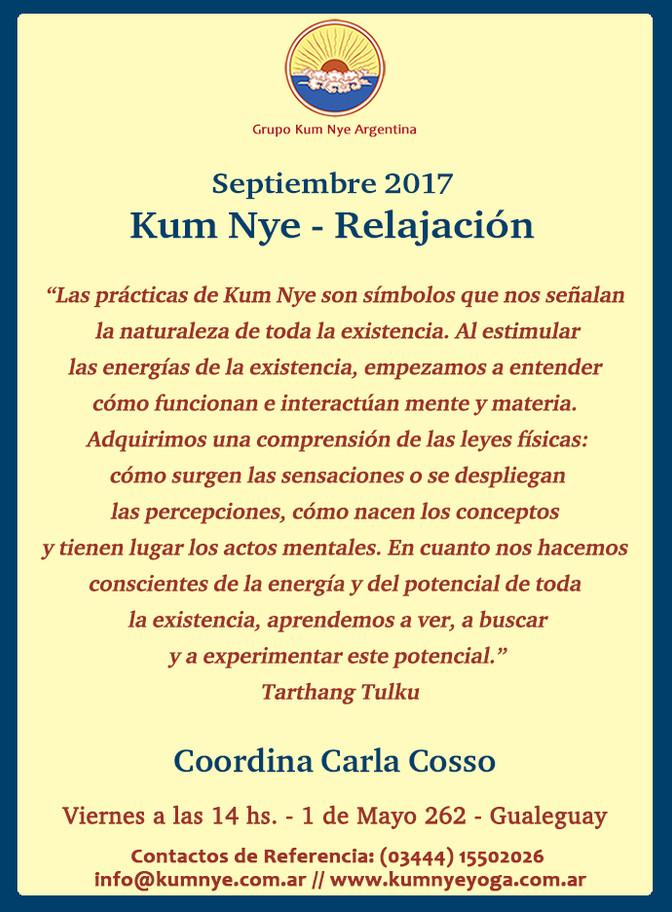 Kum Nye - Relajación en Gualeguay  • Septiembre 2017