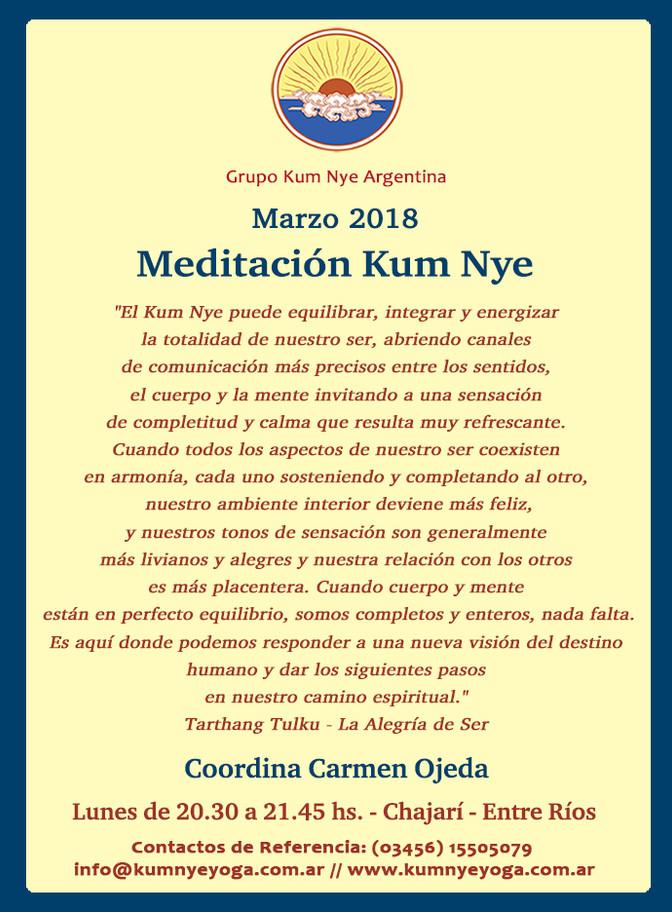 Meditación Kum Nye - Chajarí -Entre Ríos • Marzo 2018