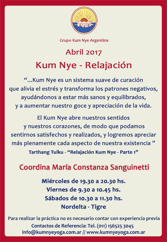 Kum Nye - Relajación en Nordelta -Tigre • Abril 2017