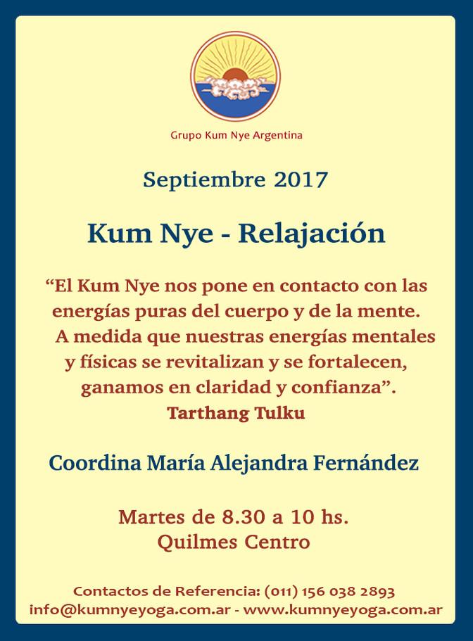 Kum Nye - Relajación en Quilmes • Septiembre 2017
