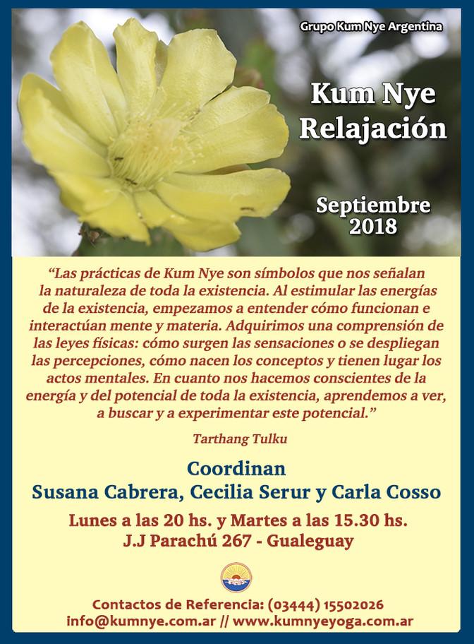 Kum Nye - Relajación en Gualeguay - Entre Ríos • Septiembre 2018