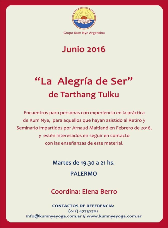 """""""La Alegría de Ser"""" de Tarthang Tulku • Junio 2016"""