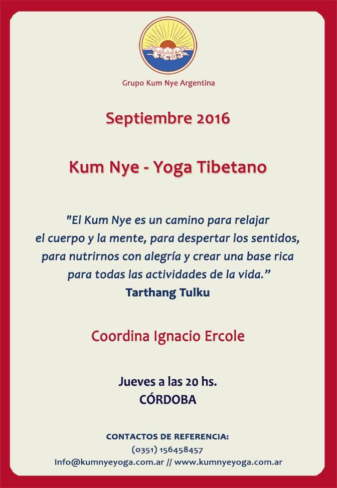 Kum Nye - Yoga Tibetano en Córdoba • Septiembre 2016