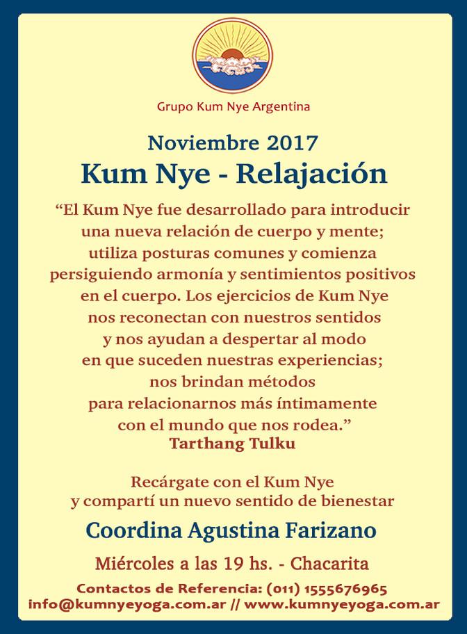 Kum Nye - Relajación en Chacarita • Noviembre 2017