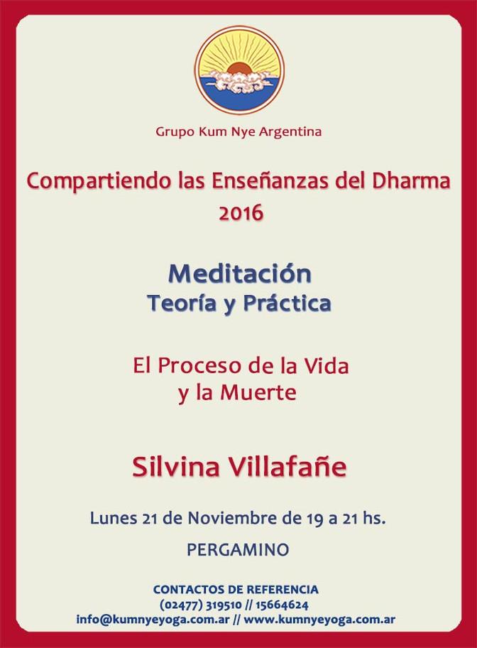 Meditación - Teoría y Práctica - Pergamino • Noviembre 2016