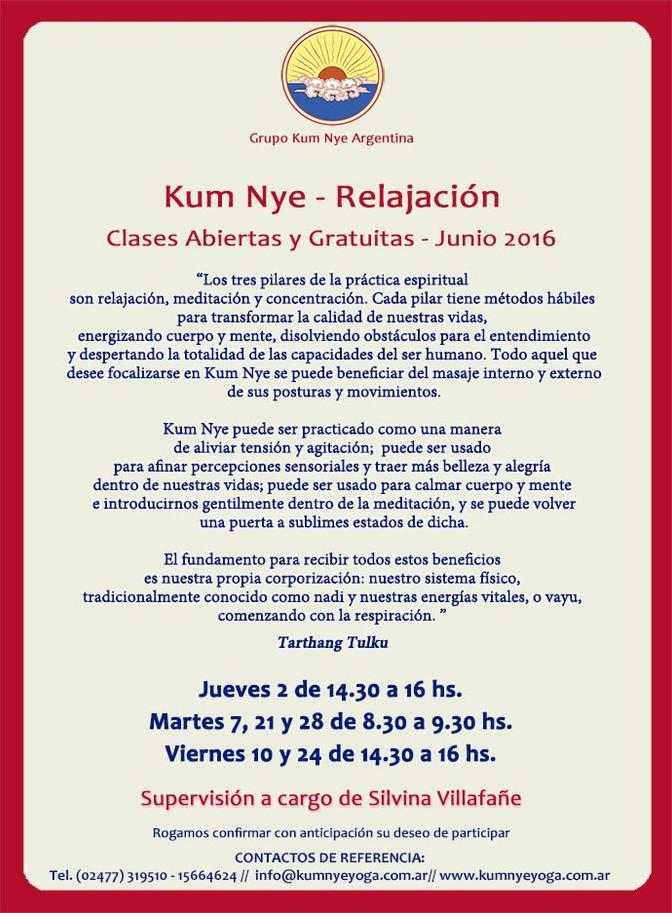 Kum Nye - Relajación en Pergamino • Junio 2016