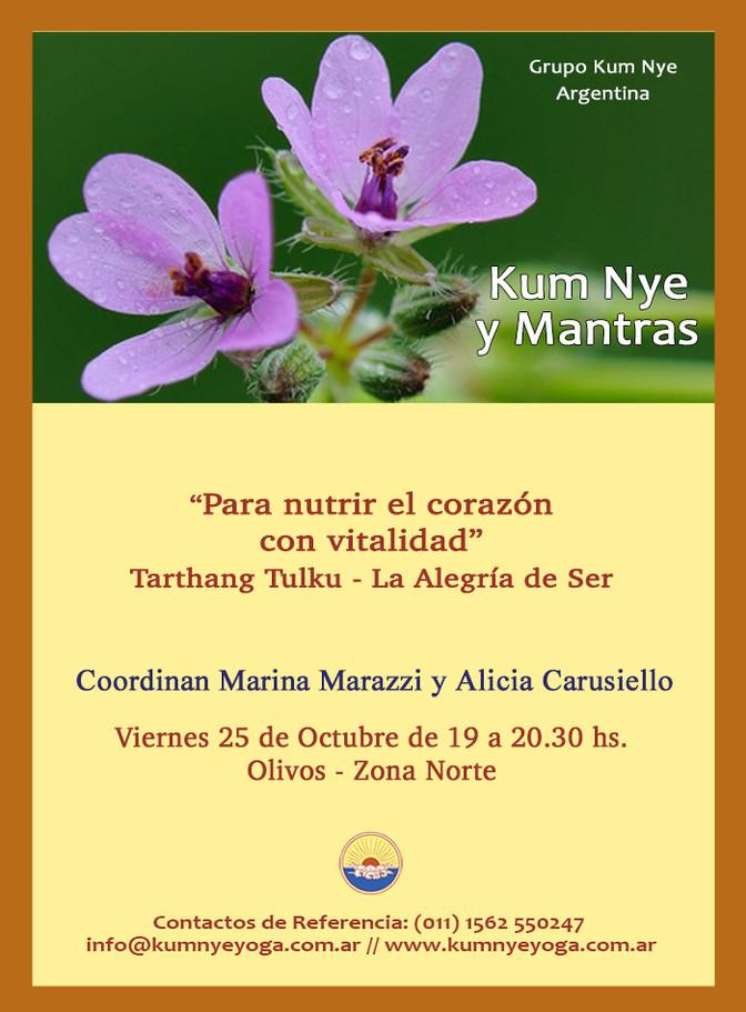 Kum Nye y Mantras - Olivos - Octubre 2019