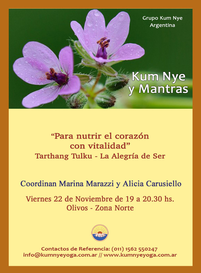 Kum Nye y Mantras - Olivos - Noviembre 2019