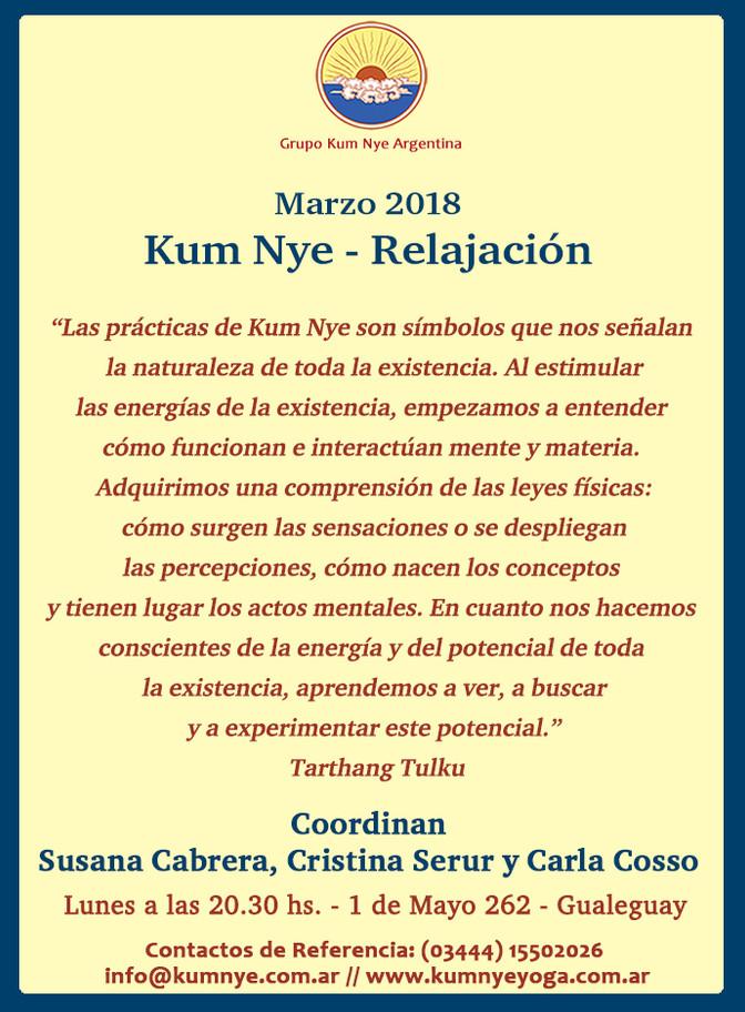 Kum Nye - Relajación en Gualeguay - Entre Ríos • Marzo 2018