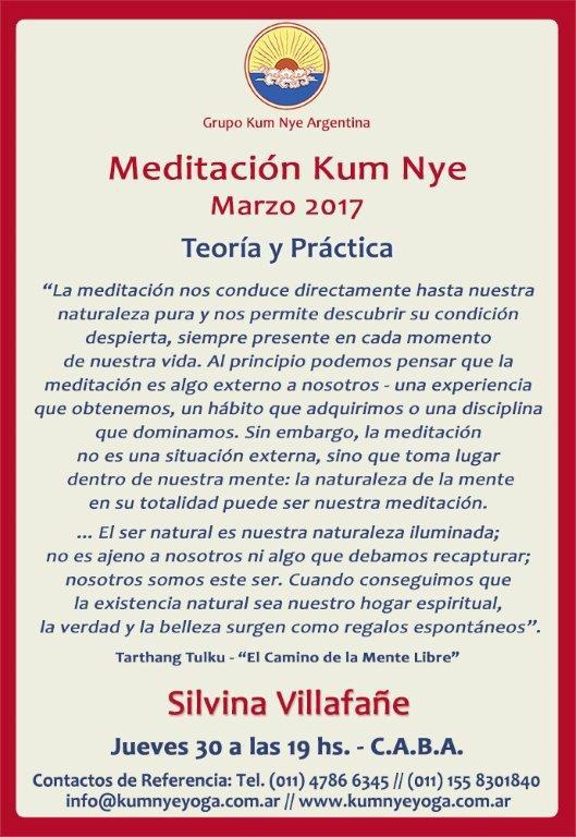 Meditación Kum Nye en C.A.B.A. • Marzo 2017