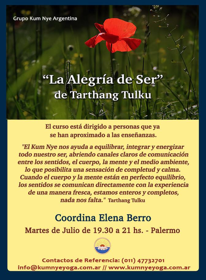 """""""La Alegría de Ser"""" de Tarthang Tulku en Palermo  • Julio 2018"""