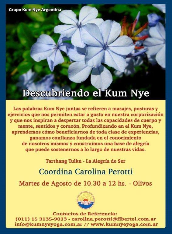 Descubriendo en Kum Nye en Olivos - Zona Norte • Agosto 2018