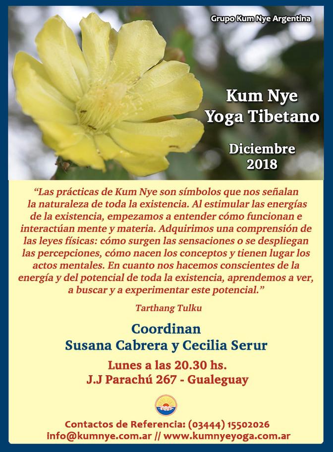 Kum Nye - Yoga Tibetano en Gualeguay - Diciembre de 2018
