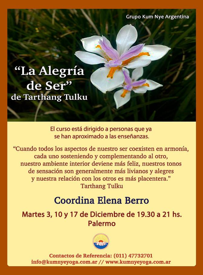 """La Alegría de Ser"" de Tarthang Tulku - Palermo - Diciembre 2019"
