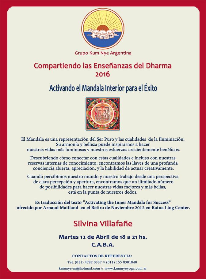 Compartiendo las Enseñanzas del Dharma  2016