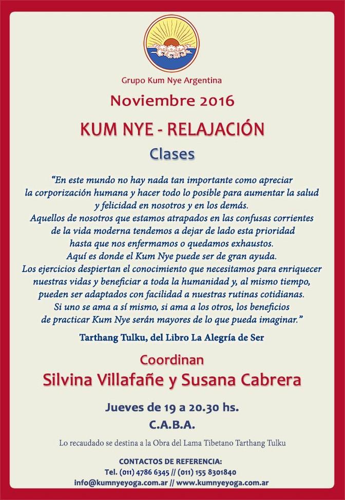 Kum Nye - Relajación en C.A.B.A • Noviembre 2016