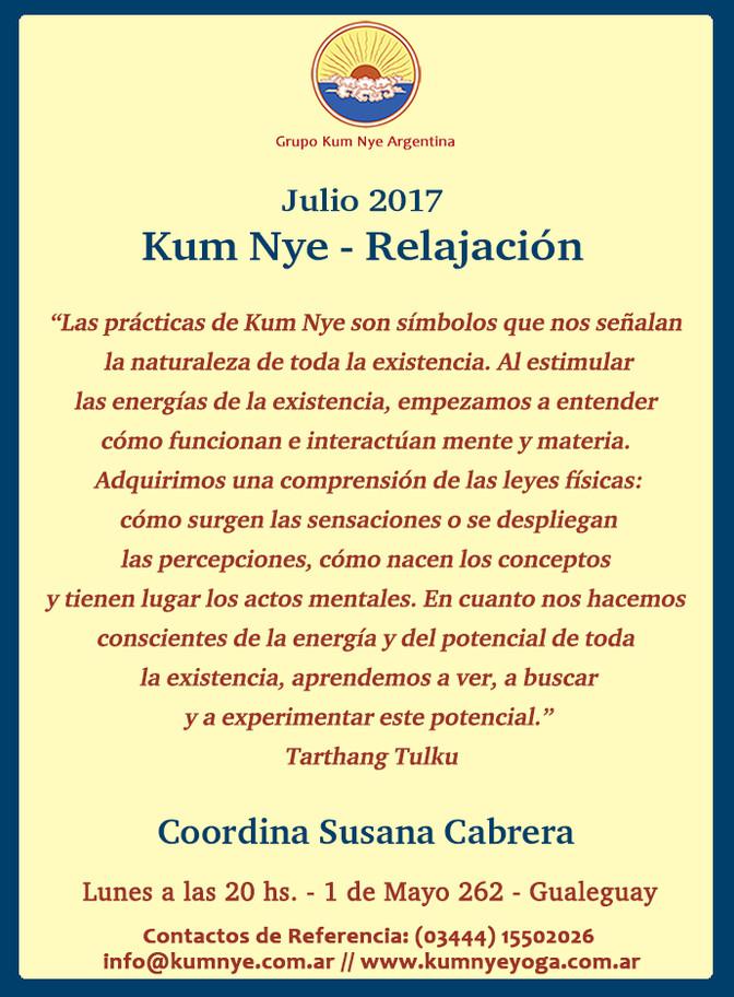 Kum  Nye - Relajación en Gualeguay • Julio 2017