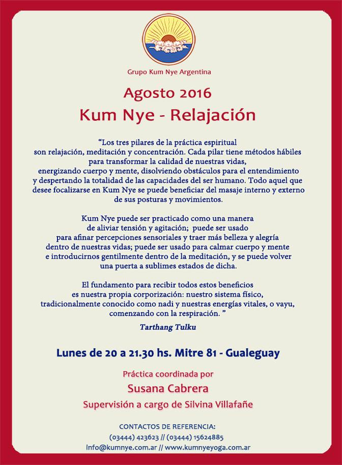 Clases de Kum Nye en Gualeguay  • Agosto 2016