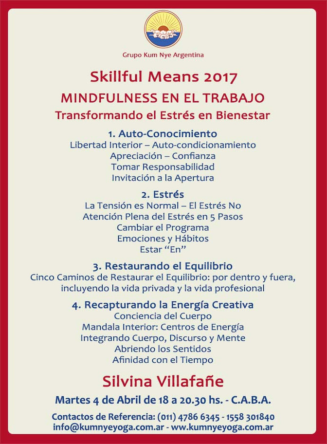 Skillful Means en C.A.B.A • Abril 2017