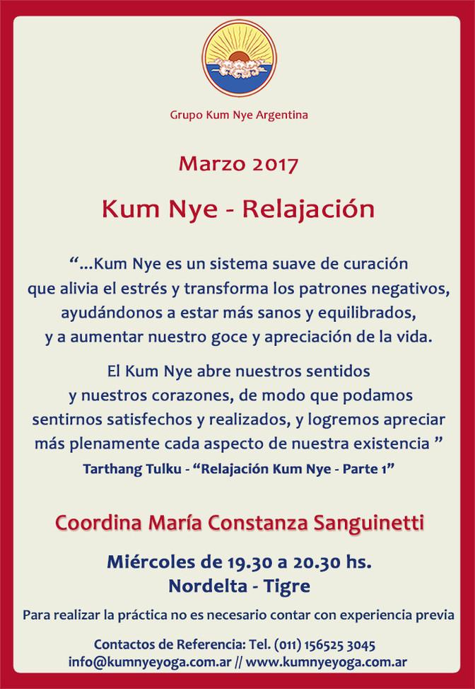 Kum Nye - Relajación en Nordelta -Tigre • Marzo 2017