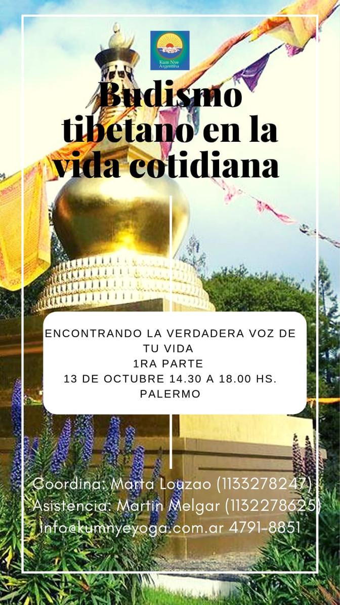 Budismo Tibetano en la Vida Cotidiana - Palermo - Octubre 2019