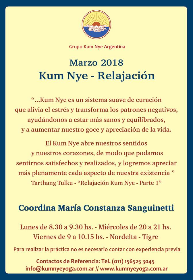 Kum Nye - Relajación en Nordelta -Tigre • Marzo 2018