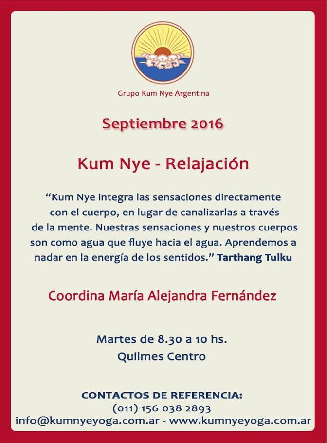 Kum Nye - Relajación en Quilmes Centro • Septiembre 2016