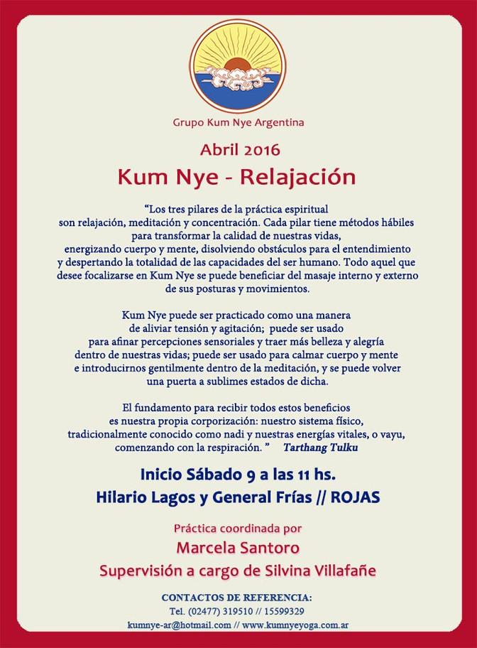 Kum Nye - Relajación en Rojas • Abril 2016