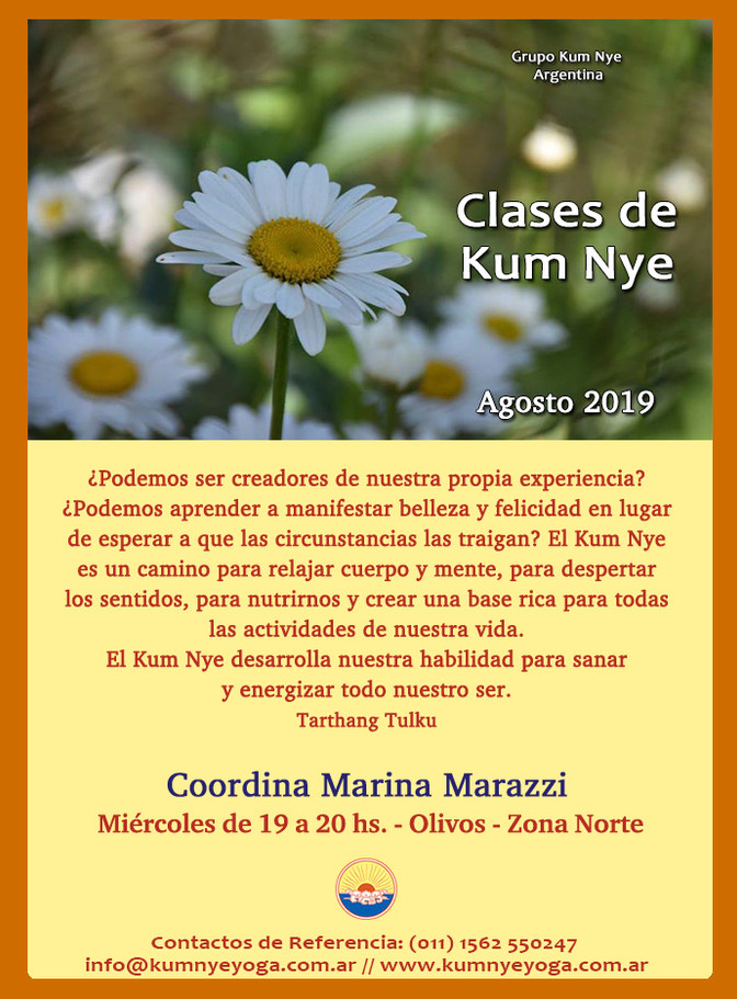 Clases de Kum Nye - Olivos - Zona Norte - Agosto 2019