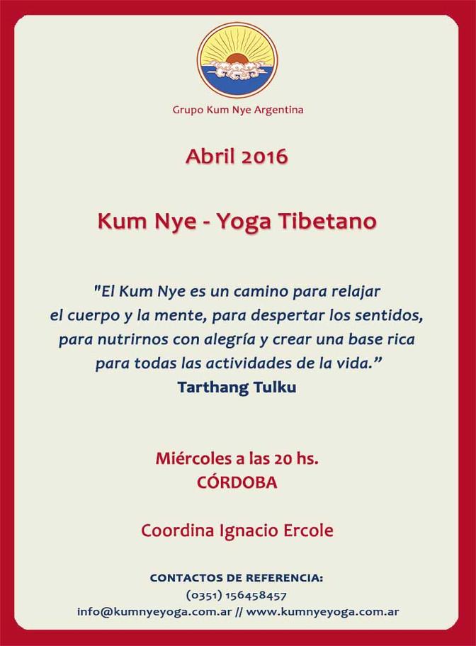 Kum Nye - Yoga Tibetano en Córdoba • Abril 2016