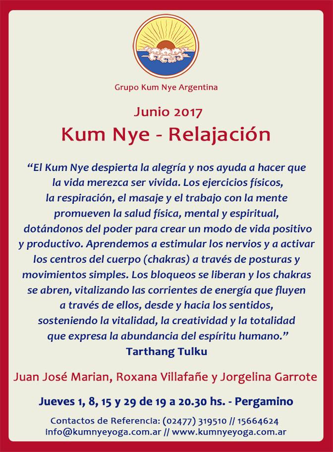 Clases Kum Nye -Relajación en Pergamino • Junio 2017