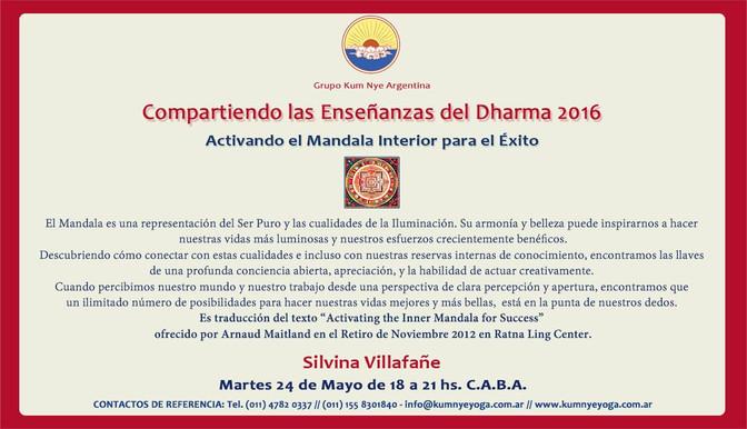 Compartiendo las Enseñanzas del Dharma  2016 • C.A.B.A.